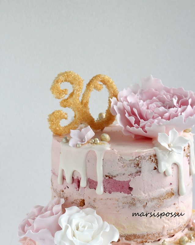 Kakku 30-vuotissynttäreille