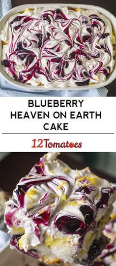 Lemon Blueberry Heaven On Earth Cake