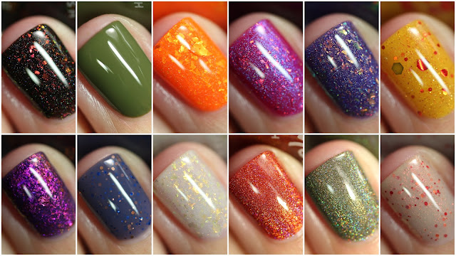KBShimmer All the Fall Things swatches