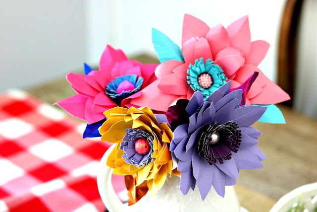 athomewithjemma.com, paper, flowers, craft, diy, handmade, project easy, weddings, showers, birthdays