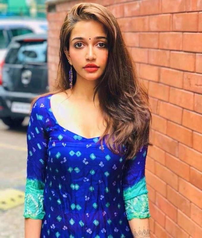 Actress Anaika Soti Recent Stills In Blue Churidar