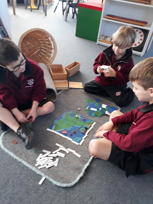 Learning about coordinates with the mapping material