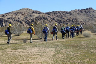 Patrolling/communications hikes are used to instill a visual and communication dialogue that enhances teamwork.