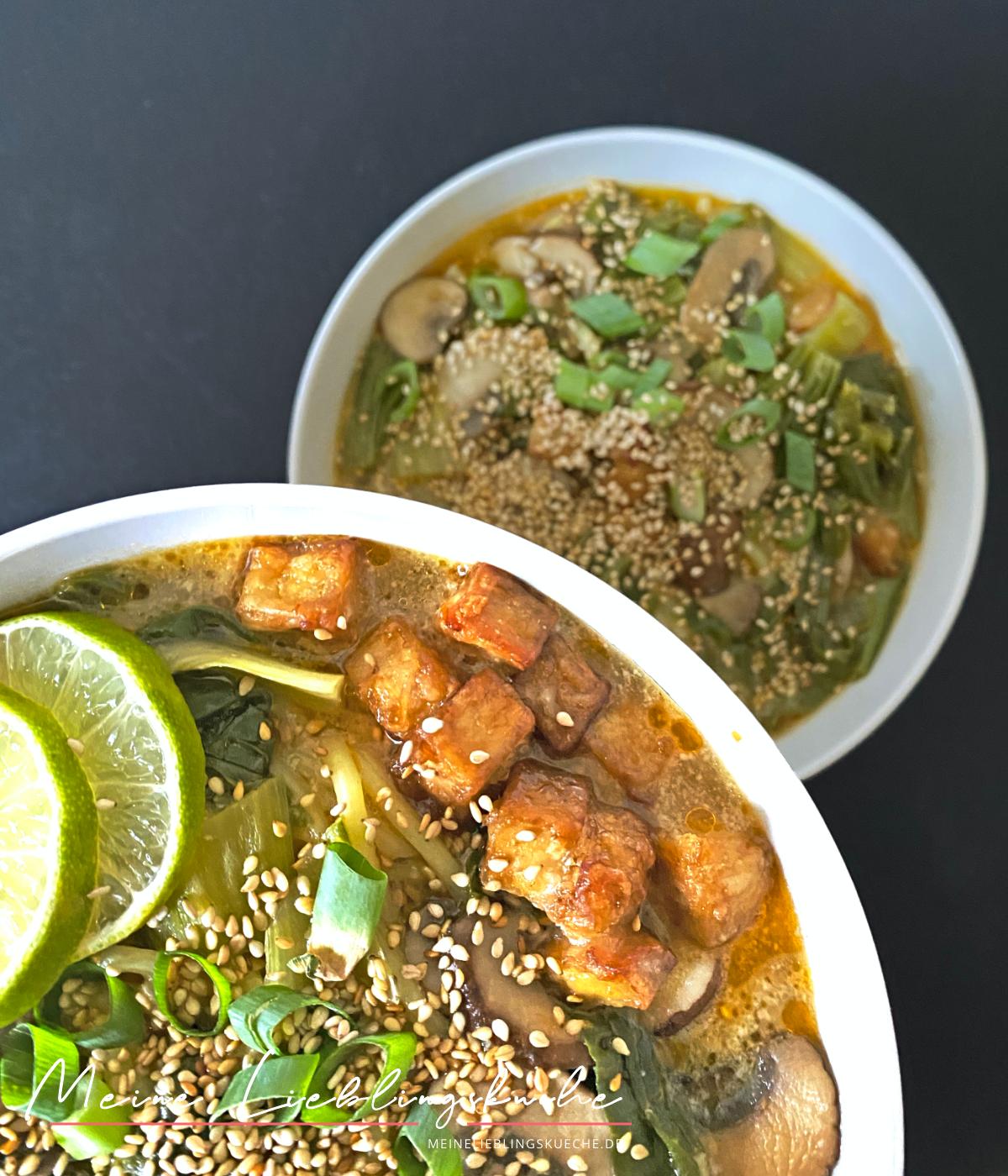 Curry-Ramen mit Kokosmilch