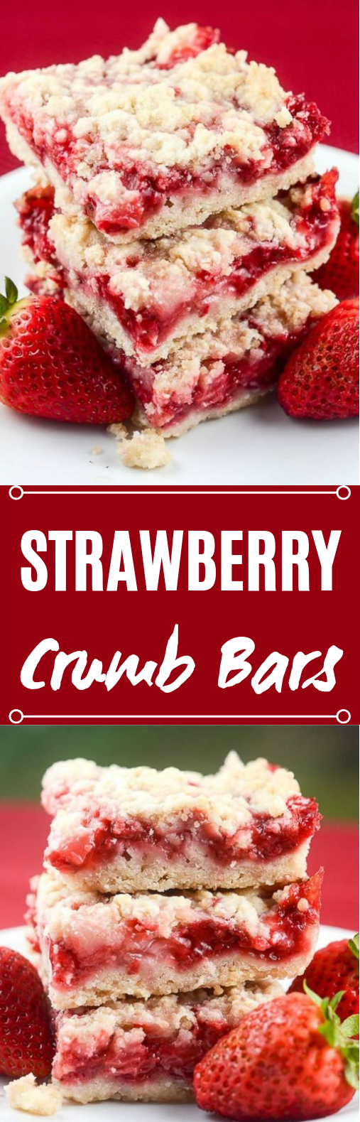 Strawberry Crumb Bars #desserts #bars