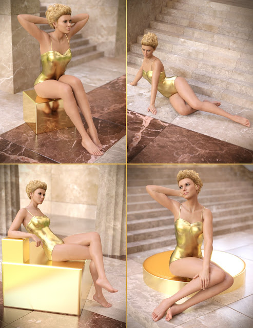Classic Hollywood Poses for Genesis 8 Female and Penny 8