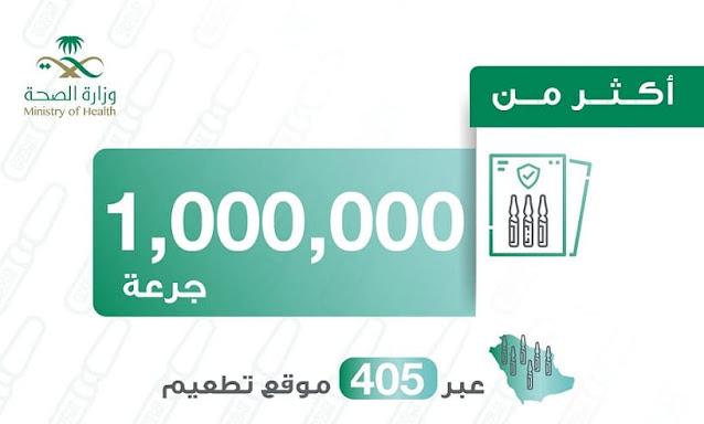 Saudi Arabia vaccinated more than 1 Million doses of Corona virus Vaccine so far