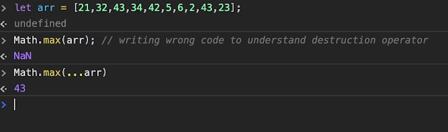 find max/min in js