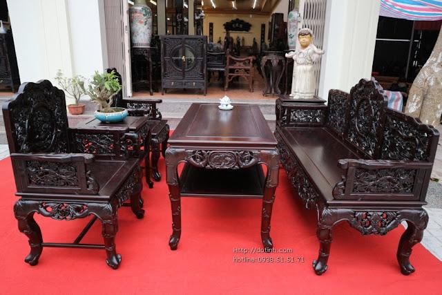 Bộ trường kỷ gỗ - Mẫu bàn ghế trường kỷ đẹp, cao cấp, sang trọng