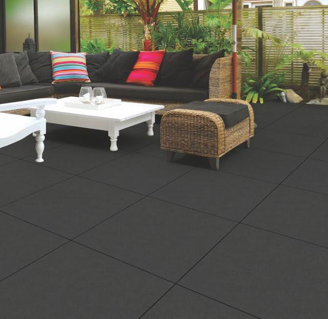 Black Porcelain Floor Tile