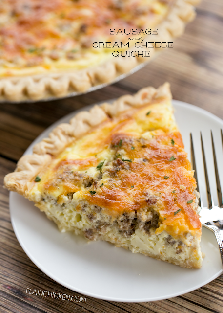 Sausage and cream cheese quiche plain chicken sausage and cream cheese quiche so quick and easy everyone loved this recipe can make ahead and freeze for later pie crust sausage cream cheese forumfinder Gallery