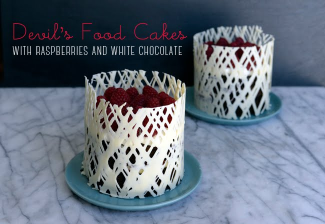 Pixel Whisk Mini Devil S Food Cakes With Raspberries And