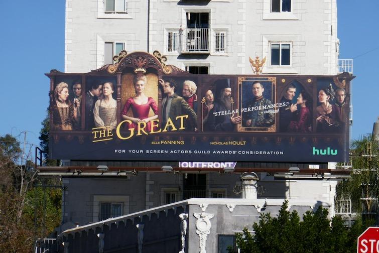 Great season 1 FYC cut-out billboard