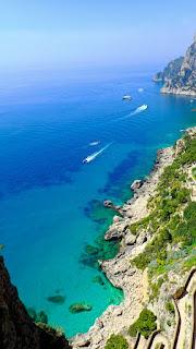 View from Giardini Augusto Capri Italy