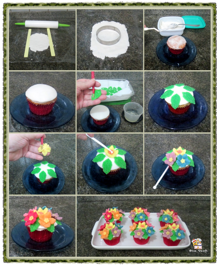 Cupcake de coco com nozes 22