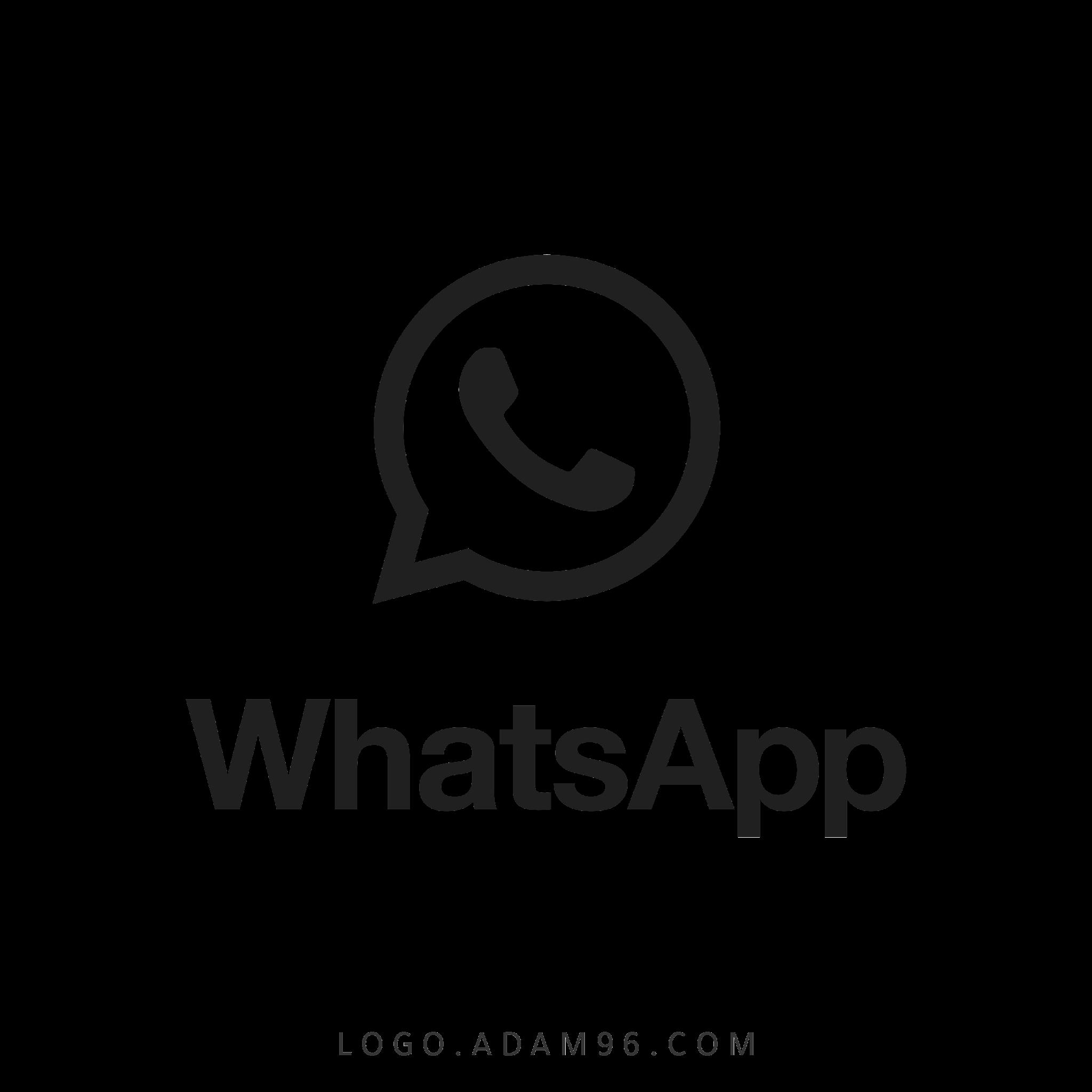 تحميل شعار واتساب اسود شفاف Logo Black Whatsapp PNG