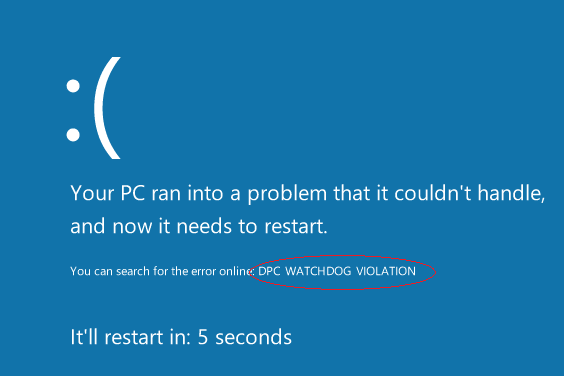 Get Rid of DPC Watchdog Violation Error in Windows 10
