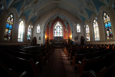 Interior photo of sanctuary
