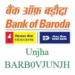 Vijaya Baroda Bank Unjha Branch New IFSC, MICR