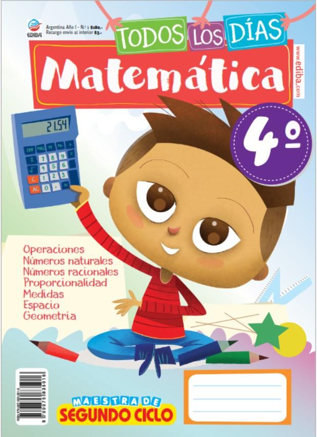 Libro de matemáticas 4 grado