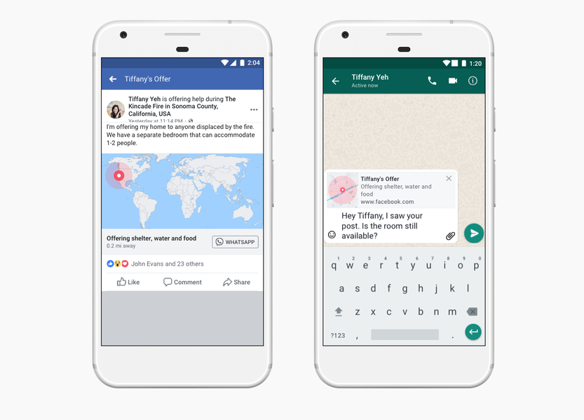 Crises Response Tool by Facebook – New Updates and WhatsApp Integration