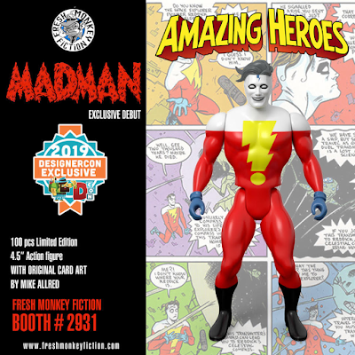 Designer Con 2019 Exclusive Madman Adventures Amazing Heroes Action Figure by Fresh Monkey Fiction