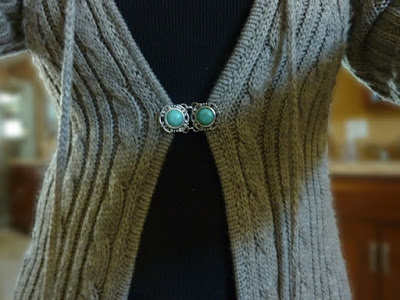 How to Make Sweater or Shawl Clips from Beads and Connectors