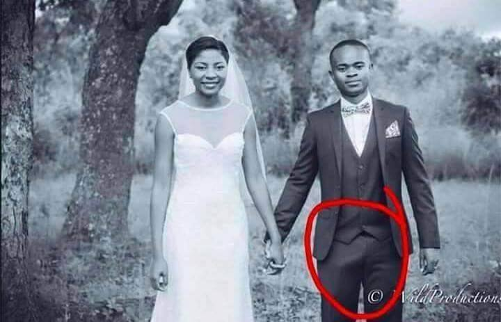 See The Unfortunate Incident That Befell A Groom During His Wedding Photo