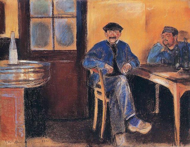 Эдвард Мунк - Таверна в Сен-Клу. 1890