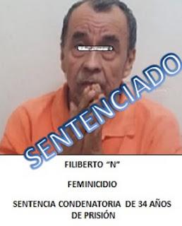Dicta Juez sentencia condenatoria de 34 años de prisión contra feminicida,  en Poza Rica