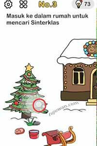 Masuk Ke Dalam Rumah Untuk Mencari Sinterklas Brain Out Kunci Jawaban Tolong Sinterklas No.3