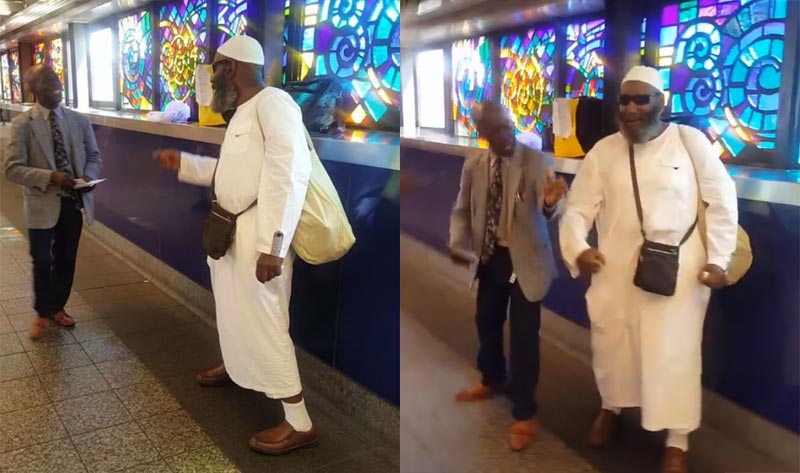 SMH: Christain and Muslim man fight over superiority in New York (video)