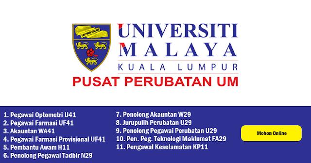 jawatan kosong universiti malaya