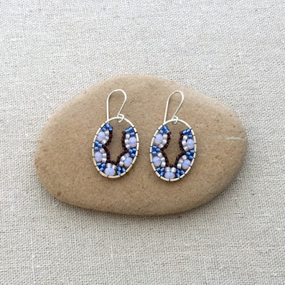 Beadwork earrings - scallop shape using Brick Stitch: Lisa Yang's Jewelry Blog