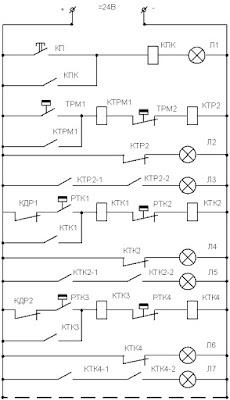 Схема автоматической системы подогрева масла