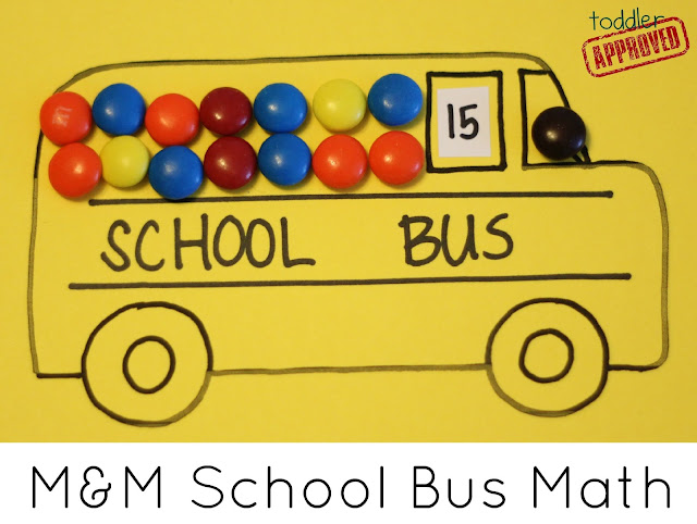 Toddler Approved!: M&M School Bus Math