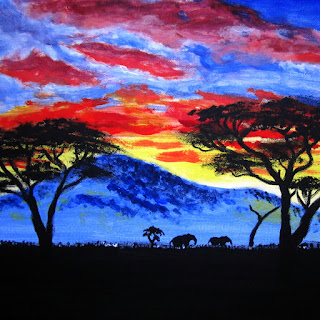africa painting merch