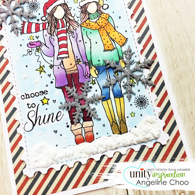ScrappyScrappy: [NEW VIDEO] Feather & Angie Girl Release with Unity Stamp #scrappyscrappy #unitystampco #copic #katscrappiness #katscrappinessdie #diecut #postagestamp #snowflake #winter #christmas #christmascard #marvyuchida #snowmarker #puffysnow #youtube #quicktipvideo #processvideo #stamp #stamping #craft #crafting #card #cardmaking