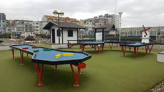 Emily spotted the Snooker Golf course in Blankenberge, Belgium