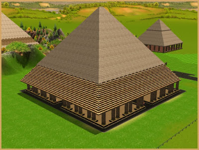 RCT3 Structure: Egypt Pyramid B 22x22 Build Rides Underneath