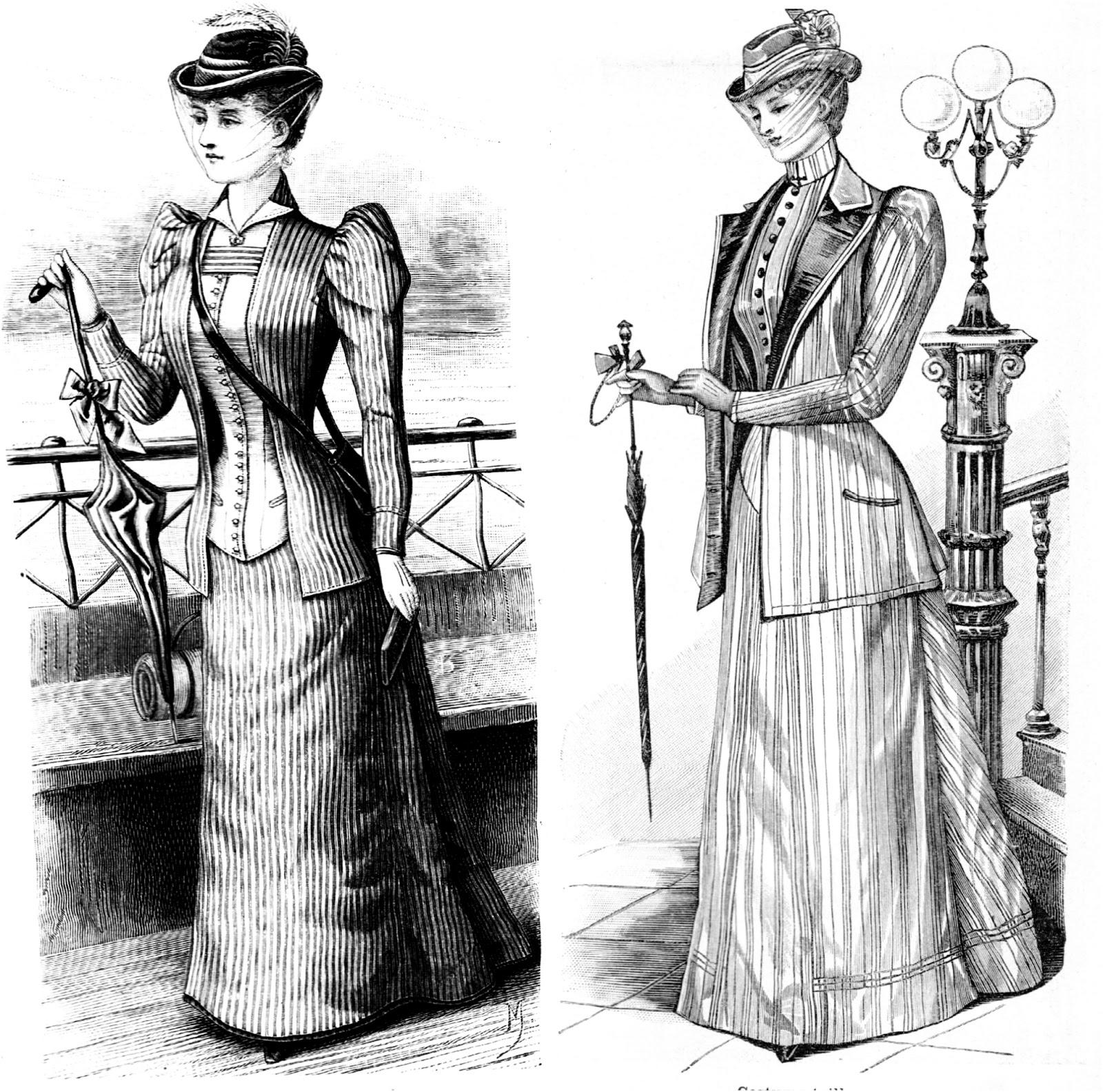 Costumes pour dames de 1892