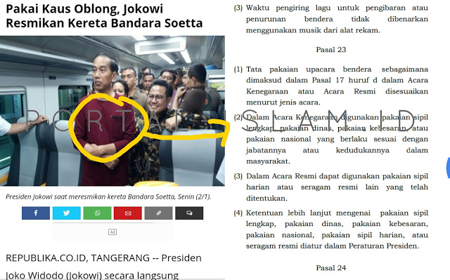 Ini Nasihat Makjleb Suryo Prabowo Untuk Jokowi dan Kaos Oblongnya: Ajining Rogo Soko Busono!