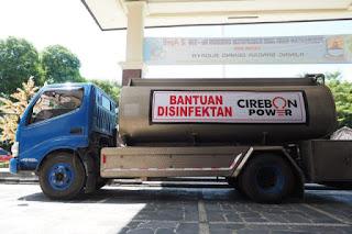 8000 Liter Disinfektan Bantuan Cirebon Power Akan Disemprotkan Diseluruh Desa Pemkab Cirebon