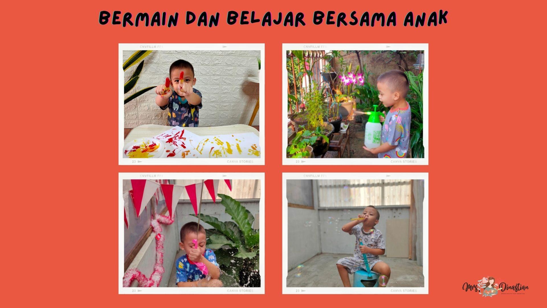 bermain dan belajar bersama anak