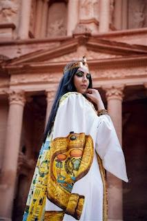 هيا عبد الغني في جلسة تصوير فرعونية بمناسبة موكب نقل المومياوات الملكية