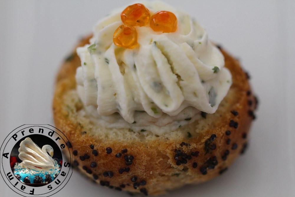 Choux saumon œufs de truite