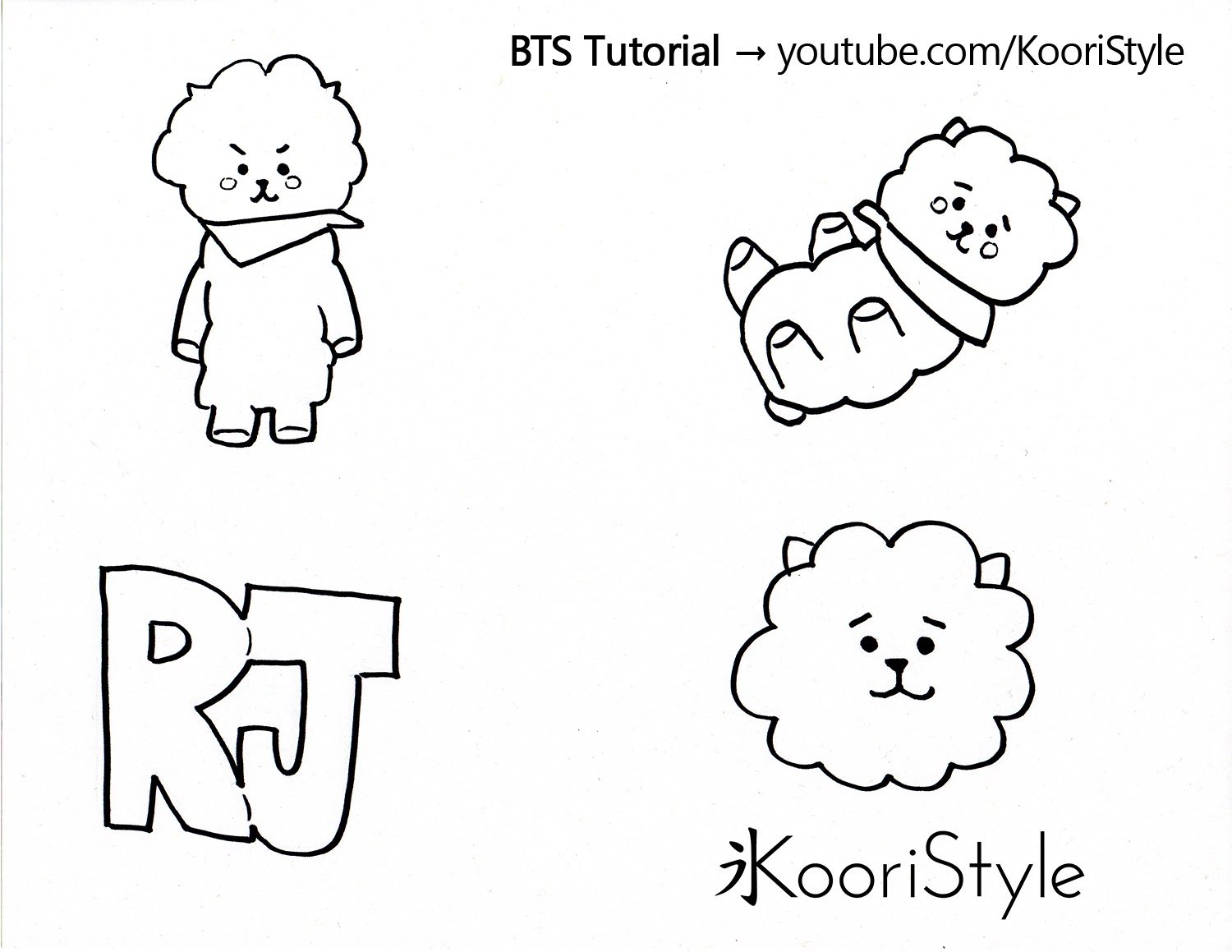 Bts Tutorial Bt21 Rj Pin