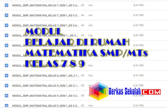 Modul BDR Matematika Kelas 7 8 9 SMP/ MTs Semester 1