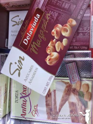 Dulces navideños bajos en calorías.