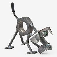 manualidades con chatarra reciclada - perro